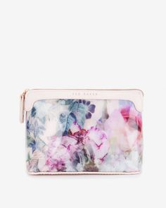 Large pure peony cosmetic bag - Dusky Pink   Gifts for Her   Ted Baker