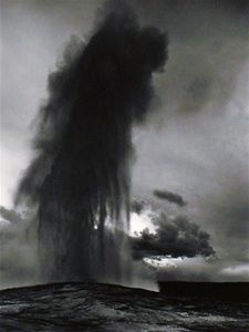 Ansel Adams Gelatin, Old Faithful Geyser, 1942. ////////// I like that Ansel used a black and white photo for old faithful. The values are descent throughout the photo, lights and dark's are balanced. The proportion is great it's not out of proportion, just perfect. This picture is about pressure build up after a while and explodes into the air.  I like this photo because it has great qualities of lights and darkness. ////////// Ansel Adams. Old Faithful Geyser. 1950. The Ansel Adam gallery.