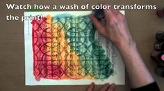 Clearly Gelli-Printed! (+playlist) Use a clear gel medium and your stencil to make a clear resist and then paint/ stain over top to reveal design