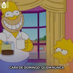 Qual a boa do domingo? #TimelineAcessivel Imagem dos Simpsons Homer com café na mão e muito sorriso muito feliz! Legenda: Cara de domingo: quem nunca.   TAGS: #coxinhanerd #nerd #geek #geekstuff #geekart #nerd #nerdquote #geekquote #curiosidadesnerds #curiosidadesgeeks #coxinhanerd #coxinhadesenhos #desenhos #simpsons #ossimpsons #thesimpsons #simpsonsnafox #homersimpson #coffee #coffeetime #domingo #sundaymorning #morning