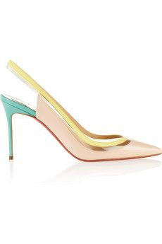 Christian Louboutin Paulina 85 patent-leather and PVC pumps | NET-A-PORTER