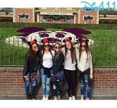Photo: Madison Pettis With Friends At Disneyland Resort January 4, 2015