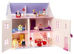 BigJigs Rose Cottage Wooden Dollhouse