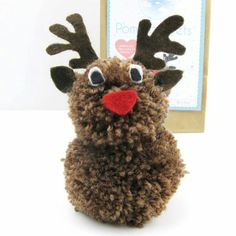 Pom Pets Craft Kit Reindeer pom pom pets craft kit reindeer by sarah hurley .pom pom pets craft kit reindeer by sarah hurley . Christmas Pom Pom Crafts, Christmas Crafts To Make, Noel Christmas, Christmas Projects, Christmas Gifts, Christmas Decorations, Christmas Ornaments, Crafts For Winter, Christmas Events