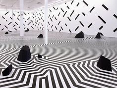 Zen Garden Artist Sam Songailo creates fantastic outdoor and indoor installations that transport audiences to another world. Songailo used. Op Art, Ouvrages D'art, Hi Fructose, Street Installation, Creative Industries, Public Art, Public Spaces, Contemporary Interior, Business Design