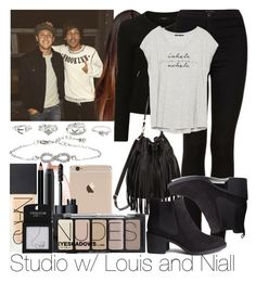 """""""Studio w/ Louis and Niall"""" by ana-a-m ❤ liked on Polyvore featuring VILA, Topshop, B-Low the Belt, Zara, H&M, NARS Cosmetics and Charlotte Russe"""