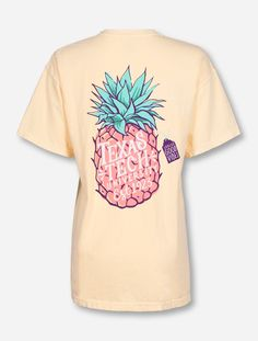 Texas Tech Red Raiders Pineapple Vibes on Butter T-Shirt