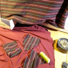 #omsøm #redesign #sewing Prøver meg på noe nytt....