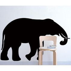 New Arrival Elephant BlackBoard Wall Stickers for Home Decoration