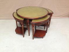 Tables gigognes vintage #vintage #tablegigogne