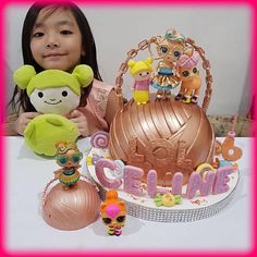 LOL Surprise Dolls Birthday Cake! Limited Edition gold ball LOL Dolls Birthday Cake!