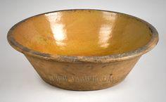Antique Pottery Milk Pan