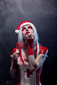 Contest entry for Model, MUA: me. Photo by Oberon [link] Zombie Santa Zombie Nurse, Halloween Magic, Dark Christmas, Dark Photography, Dramatic Photography, Metal Girl, Christmas Makeup, Cybergoth, Best Cosplay