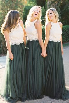 Skylar Bridesmaid separate in Greenery Tulle