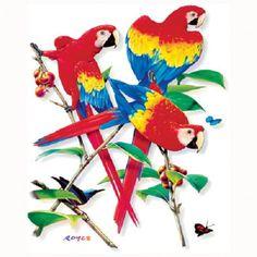 TSHIRT   Scarlet Macaw Parrot Exotic Bird T  by AlwaysInStitchesCo, $13.00