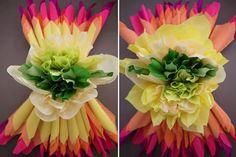Como fazer uma flor de papel crepom