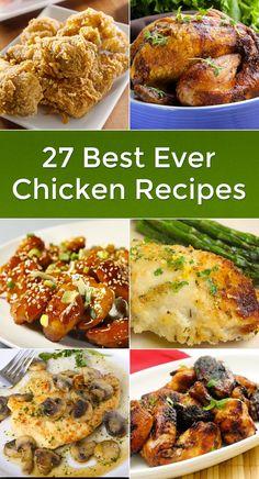 27 Best Ever Chicken Recipes