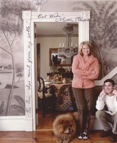 """Martha signed this photograph for Eric. This was during the photoshoot for the September, 2002, issue of Martha Stewart Living. The comment reads, """"For Eric whose mural graces my walls! Best Wishes! Martha Stewart"""""""
