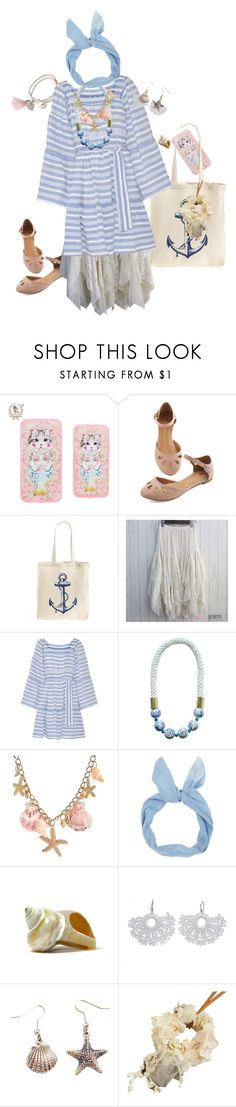 """Blue & Pink Hama Kei"" by rainylilies ❤ liked on Polyvore featuring Tri-coastal Design, Lisa Marie Fernandez, Ricardo Rodriguez and NOVICA"