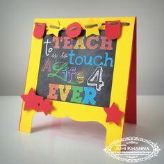 Handmade Teacher's Day Card #teacher #handmadecard