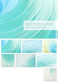 Abstract Turquoise Backgrounds by NKate on @creativemarket