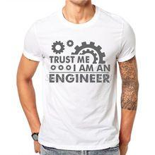 New Fashion Letter Print Men T Shirt TRUST ME I'M AN ENGINEER Tees Funny Tshirt White Short Sleeve Tops Hipster Clothing JAE01 //Price: $US $13.99 & FREE Shipping //     #tshirtdesign