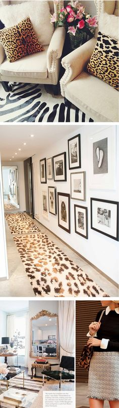 Chic Mix: Leopard + Black + Neutrals - http://www.dedecoracion.com/chic-mix-leopard-black-neutrals/