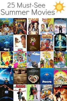 25 movie ideas for a summer family movie night.
