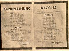 Razglas smrti 13. Novembra 1941 podpisan načelnik civilne uprave Kutschera za zasedeno ozemlje Koroške in Kranjske. Povzeto po knjigi Mučeniška pot k svobodi izdana v Ljubljani maja 1946.