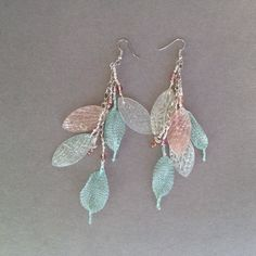 Polymer clay and Wireknitz Earrings beesatelier.com