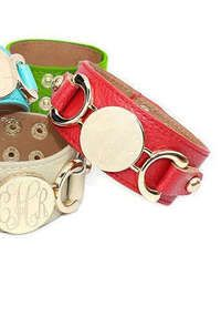 Personalized Monogram Leather Cuff Bracelet: Allyanna Gifts