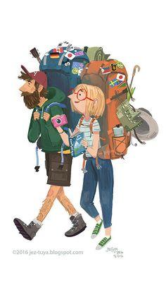 I find travelers that haul large, overloaded backpacks fascinating