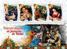 Post stamp Guinea-Bissau GB 14720 aInterpretation of Christmas paintings (Antonio da Correggio (1489-1534), Lorenzo Lotto (1480-1556/57), Peter Paul Rubens (1577-1640))