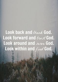 Look for God...