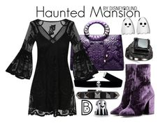 """""""Haunted Mansion"""" by leslieakay ❤ liked on Polyvore featuring Handle, Valentino, Dries Van Noten, Bling Jewelry, disney, disneybound and disneycharacter"""