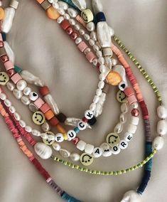 Bead Jewellery, Beaded Jewelry, Jewelery, Beaded Bracelets, Cute Jewelry, Jewelry Accessories, Pulseras Kandi, Accesorios Casual, Homemade Jewelry