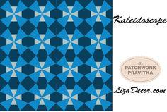 #kaleidoscop #patchwork #patchworkovévzory #pravítka #šablony #návod #postupy