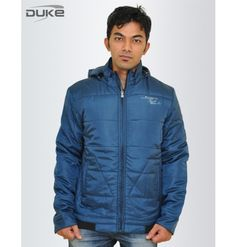 Stylish Duke Men Winter Solid Peacock Jacket