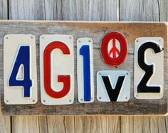 4GIVE - License plate art - quotes