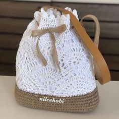 Crochet Bags Cheap bag girl, Buy Quality bag foot directly from China bag kitty Suppliers: bolsa de franja fringe Crochet shoulder bags woven rattan straw bag Bucket backpack beach summer hollow out -Affordable bag woman, Purchase High quality bag fo Crochet Backpack, Crochet Tote, Crochet Handbags, Crochet Purses, Crochet Crafts, Crochet Projects, Free Crochet, Knit Crochet, Crochet Flor