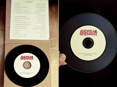 CD disguising as a record... great favor idea