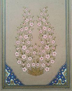 """75 Beğenme, 3 Yorum - Instagram'da Nuran Tütüncü Yildiz (@mihrimah_sanat_atolyesi): """"Sabrın sonu...#bahardali #tezhip #altın #geleneklisanatlar #guajboya #gelenekselsanatlar…"""" Islamic Art Pattern, Pattern Art, Mandala, Hand Embroidery Designs, Embroidery Patterns, Persian Pattern, Turkish Art, Islamic Art Calligraphy, Illuminated Letters"""