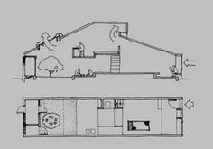 Tube Housing by Charles Correa Associates - Ahmedabad Architecture Courtyard, Architecture Drawings, Architecture Plan, Interior Architecture, Critical Regionalism, Low Cost Housing, Courtyard House, House Drawing, Urban Planning