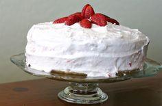 Gluten Free Strawberry Vanilla Cake from Inspired RD using our Gluten Free Vanilla Cake Mix