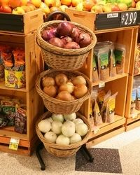Three Tier Basket Display Stands - inquire for pricing
