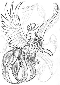 39 Trendy phoenix bird sketch how to draw Phoenix Drawing, Phoenix Art, Dark Phoenix, Tattoo Sketches, Tattoo Drawings, Drawing Sketches, Tatouage Delta, Fenix Tattoos, Japanese Phoenix Tattoo