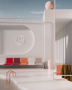 First of a series of hospital waiting rooms for the final edition of Gut Paper Clinic Interior Design, Clinic Design, Healthcare Design, Cafe Interior, Best Interior, Interior And Exterior, Waiting Room Design, Waiting Rooms, Cabinet Medical