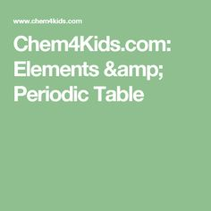 Chemistry elements of water millions of molecules the chem4kids elements periodic table urtaz Choice Image
