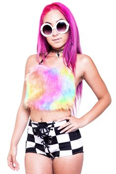 T-t-t-t-t-t-touch Me Furry Rainbow Halter