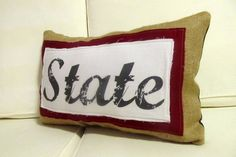 Mississippi State pillow- Great porch pillow